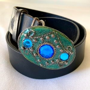 NEXT genuine leather belt with jewelled Buckle